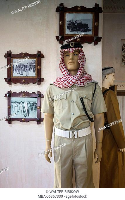 UAE, Abu Dhabi, Sheikh Zayed Research Center, Emirates Police Museum, interior