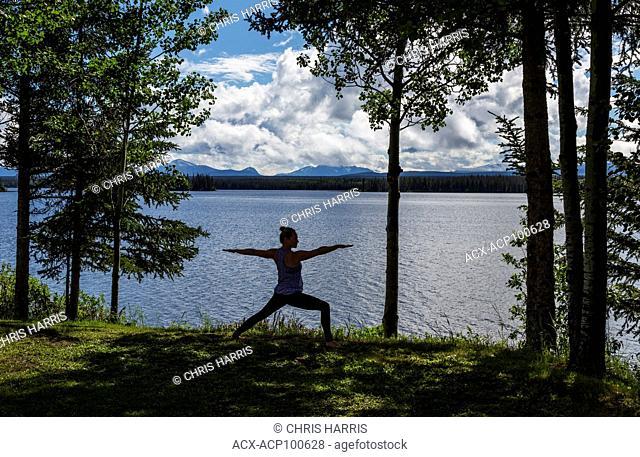 Canada, British Columbia, Chilcotin region, yoga, Nimpo Lake