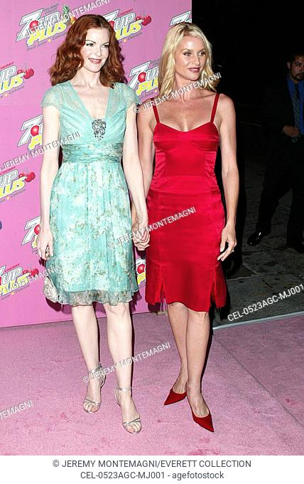 Marcia Cross and Nicolette Sheridan at arrivals for 7-UP Plus Premiere Party, Cabana Club, Los Angeles, CA, August 23, 2005