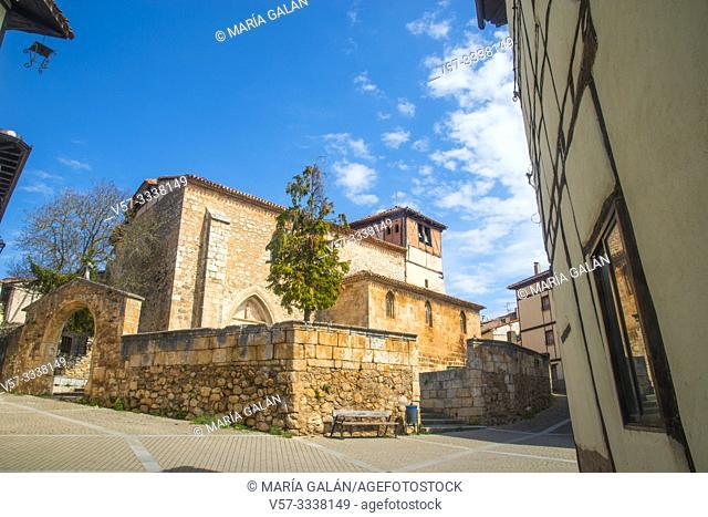 Santo Tomas church. Covarrubias, Burgos province, Castilla Leon, Spain