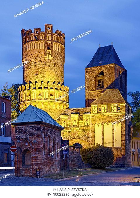 Neustädter gate in Tangermünde, Saxony Anhalt, Germany