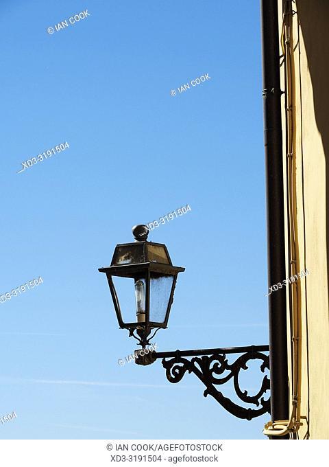 classic street lamp, Anguillaro Sabazia, Lazio Region, Italy