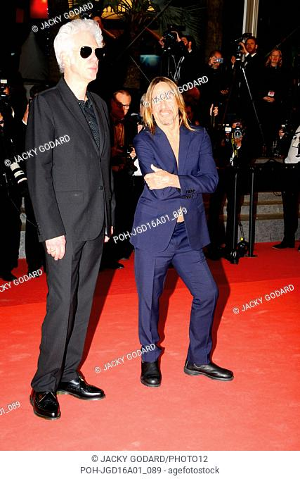 Jim Jarmusch and Iggy Pop Arriving on the red carpet for the film 'Gimme Danger' 69th Cannes Film Festival May 19, 2016
