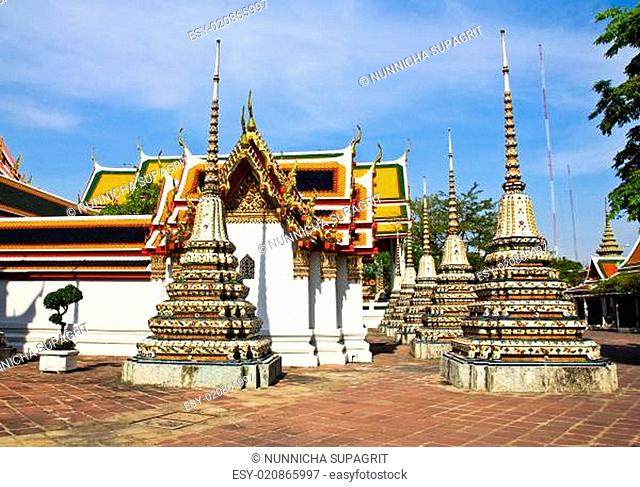 Pagoda in Wat Pho Temple ,Bangkok Thailand