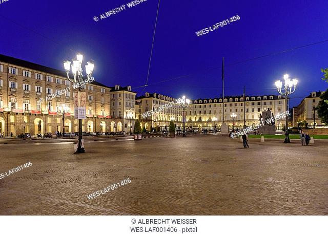 Italy, Piemont, Turin, Teatro Regio, Piazza Castello