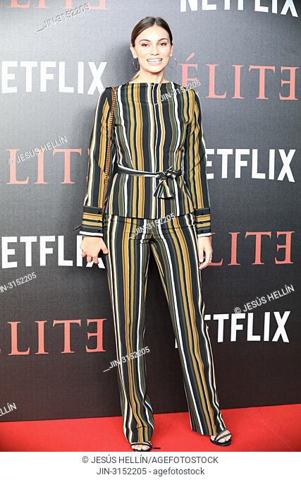 Actress NORMA RUIZ attends 'Elite' premiere at Reina Sofia Museum. Premiere of the Élite series, which premieres Netflix -it is its second Spanish original...