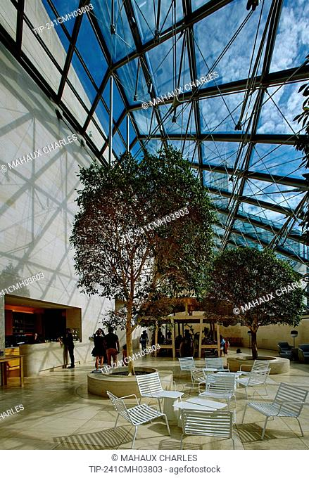 Inside the Mudam museum of Modern Art in Luxembourg city