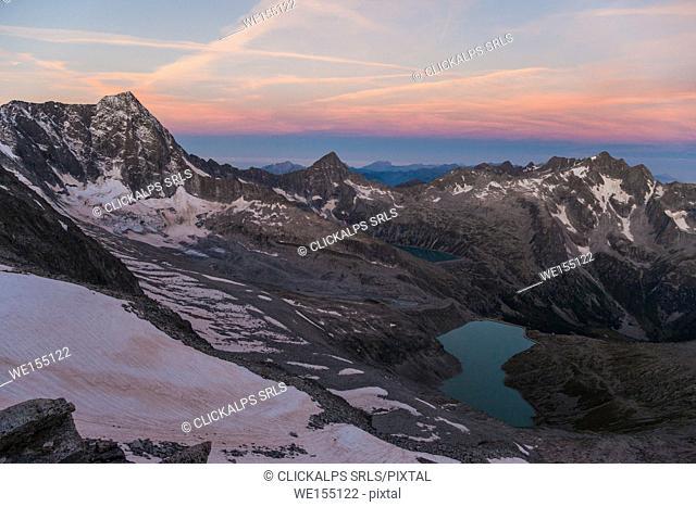 Adamello peak, Venerocolo lake, Avio valley, Lombardy, Italy