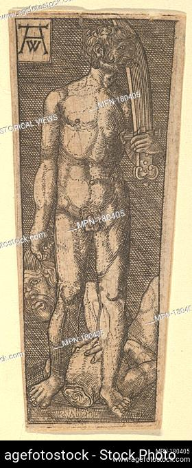 Reverse Copy of the Top of Dagger Sheath with David Holding the Head of Goliath. Artist: after Heinrich Aldegrever (German, Paderborn ca