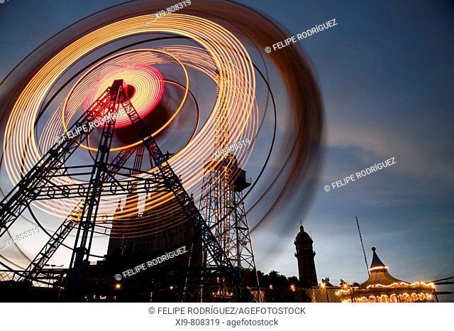 Tibidabo amusement park, Barcelona. Catalonia, Spain