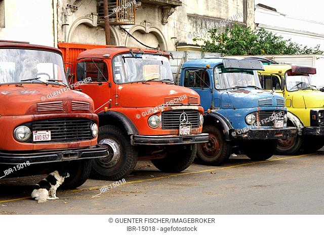 Truckers waiting for freight Asuncion Paraguay