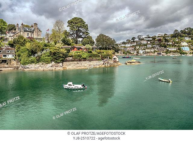 View at Dartmouth and Kingswear at the River Dart, Devon, England, UK