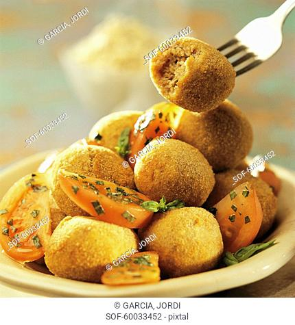 Fried chickpea balls