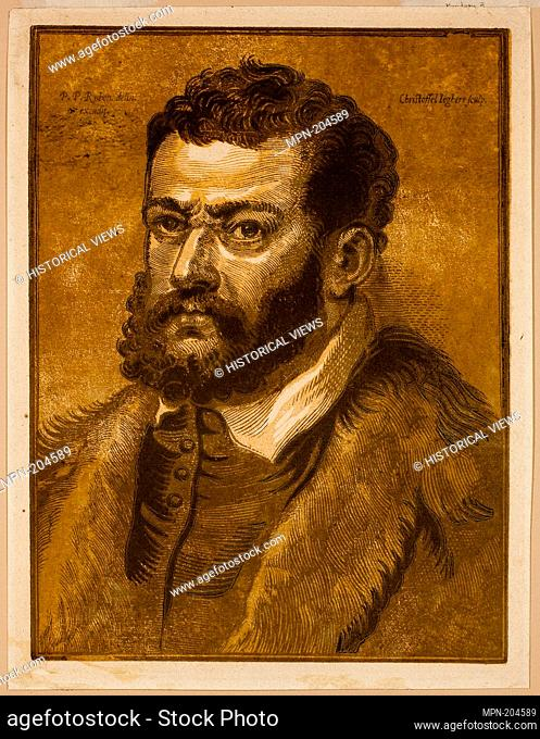 Portrait of Doge Giovanni Cornaro - 1632/36 - Christoffel Jegher (Flemish, 1596-1652/53) after Peter Paul Rubens (Flemish