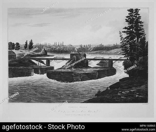 Glenns Falls (No. 6 of The Hudson River Portfolio). Series/Portfolio: The Hudson River Portfolio; Etcher: John Hill (American (born England)