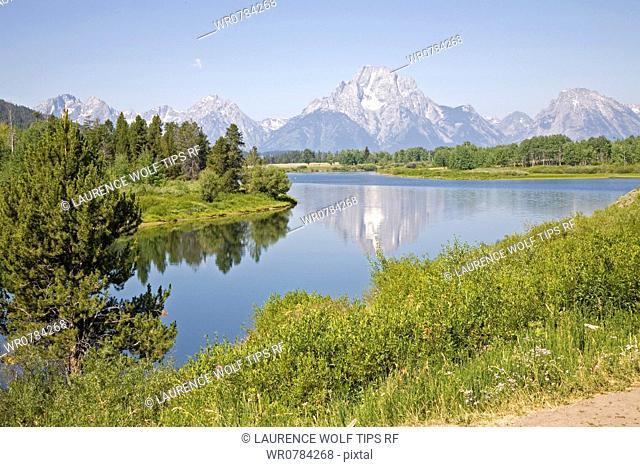 USA, Wyoming, Grand Teton National Park, The Rising Range of Tetons