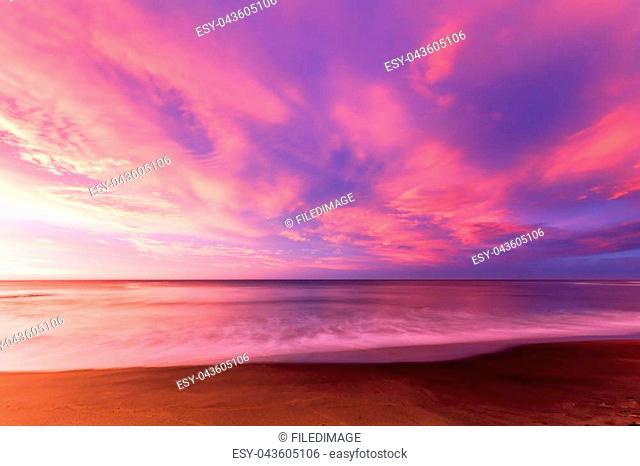 The iconic Bells Beach on a summer morning at sunrise near Torquay, Victoria, Australia