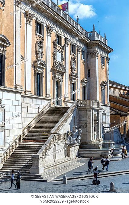 The Capitoline Hill cordonata leading from Via del Teatro di Marcello to Piazza del Campidoglio, Rome, Lazio, Italy, Europe