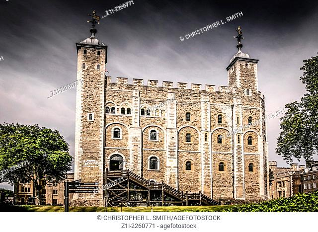 The White Tower in the Tower of London complex