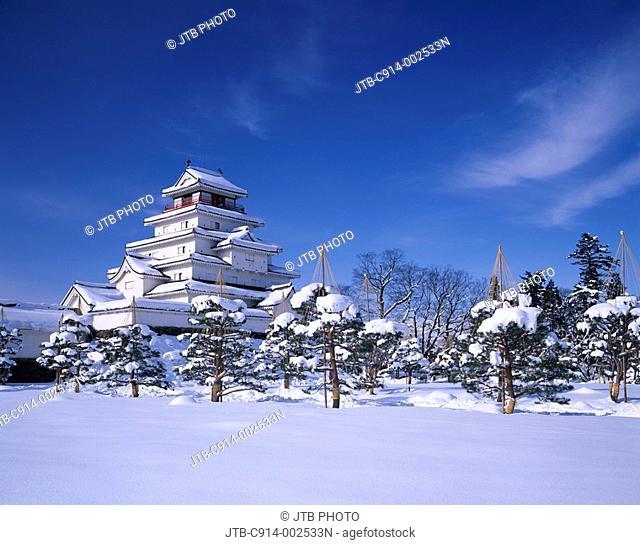 Tsurugajo castle, Aizuwakamatsu, Fukushima, Japan