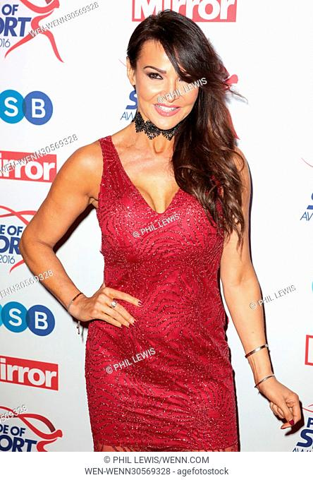 Red Carpet arrivals for the Daily Mirror Pride of Sport Awards 2016 Featuring: Lizzie Cundy Where: London, United Kingdom When: 07 Dec 2016 Credit: Phil...