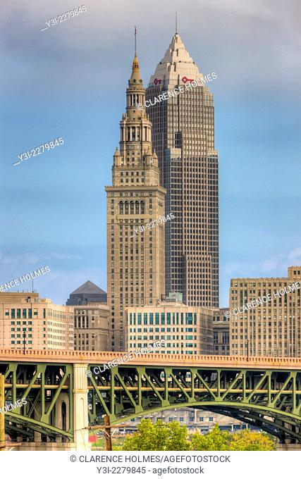 The Terminal Tower and Key Tower dominate the skyline of Cleveland, Ohio. The Terminal Tower was the 4th tallest building in the world when built in 1930 and...