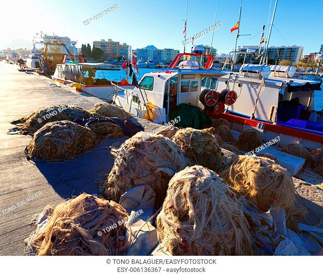 Gandia port puerto Valencia in sunset Mediterranean Spain