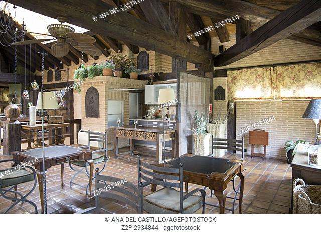 La posada de Santa Quiteria is a luxurious and rustic hotel in Somaen Soria province Spain. Indoor decoration