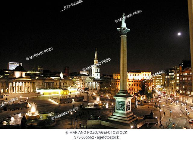 Trafalgar Square, London. England, UK