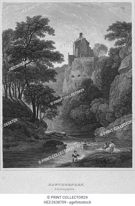 'Hawthornden, Edinburghshire', 1814. Artist: John Greig