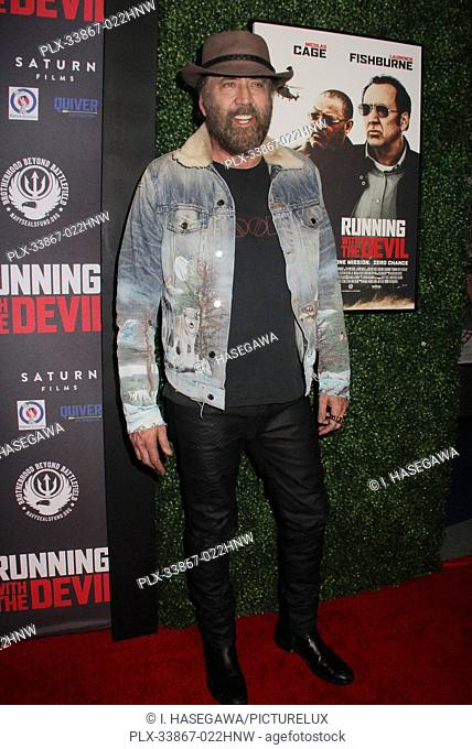 "Nicolas Cage 09/16/2019 """"Running with the Devil"""" premiere held at Writers Guild Theater in Beverly Hills, CA Photo by I. Hasegawa / HNW / PictureLux"