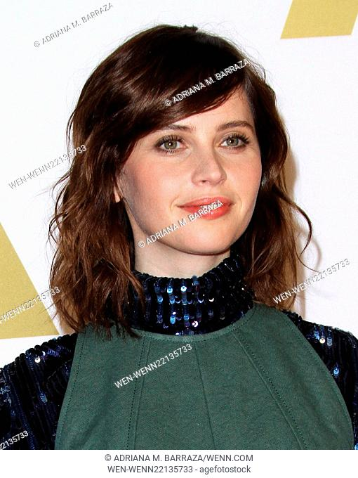 Oscar nominees luncheon held at the Beverly Hilton Hotel - Arrivals Featuring: Felicity Jones Where: Los Angeles, California