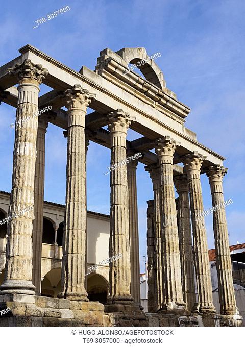Diana Temple. Merida. Badajoz. Extremadura. Spain