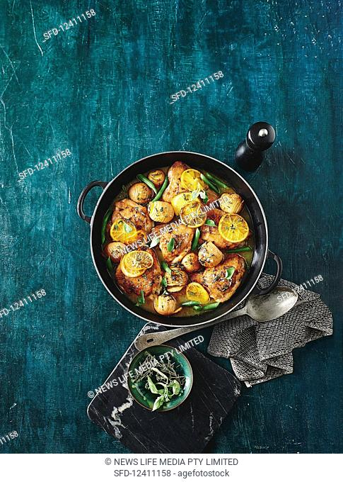 One-Pan Lemon and chicken potato bake
