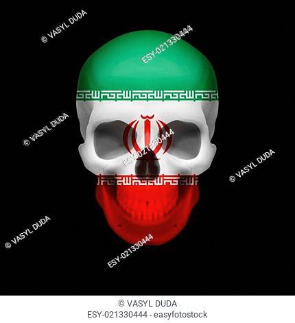 Iranian flag skull