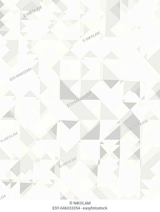 Triangular or square geometric abstract seamless pattern. Ornament texture or mosaic design backdrop tile template
