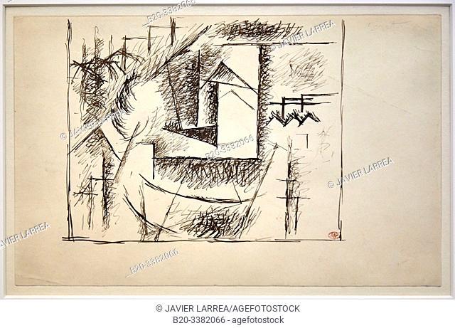 """""""Paysage de Céret"""", 1911, Pablo Picasso, Picasso Museum, Paris, France, Europe"""