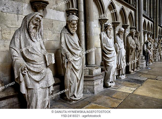 Prophets wall in Notre Dame Cathedral in Rouen, Seine-Maritime, Upper Normandy, France