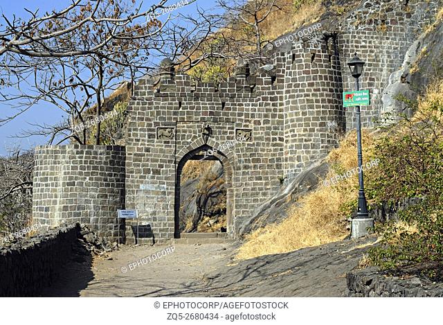 Shivneri Fort. (Junnar, Dist. Pune) Gate No. 2. Maharashtra, India