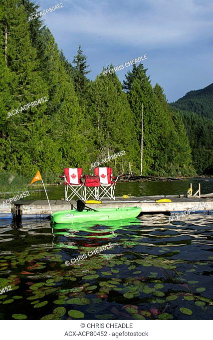 Klein Lake near Egmont, Sunshine Coast, British Columbia, Canada