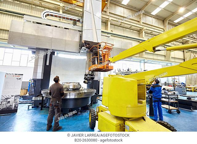 Vertical lathe. Machining Center. CNC. Design, manufacture and installation of machine tools. Bost Machine Tools Company. Asteasu. Gipuzkoa