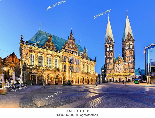 City Hall and the Cathedral of Bremen, Germany