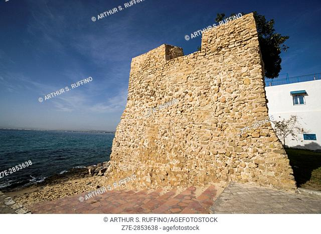 Hammamet Fort wall, Hammamet, Nabeul Governorate, Tunisia