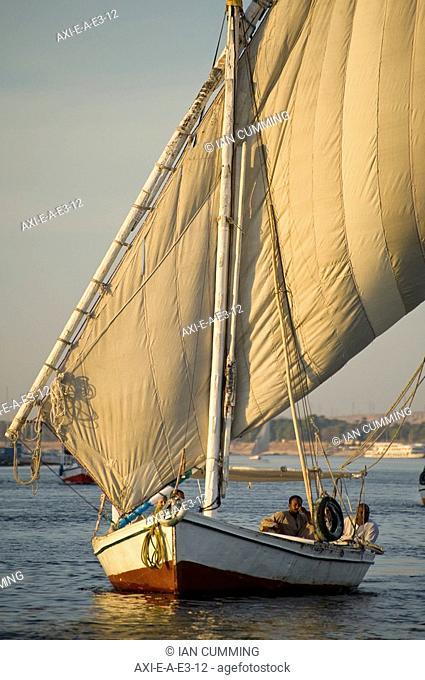 Felucca on River Nile at dusk