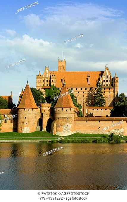 Malbork Castle is located on Southeastern bank of the river Nogat in Pomerania, Poland It was built by the Teutonic Order as an Ordensburg and named Marienburg...