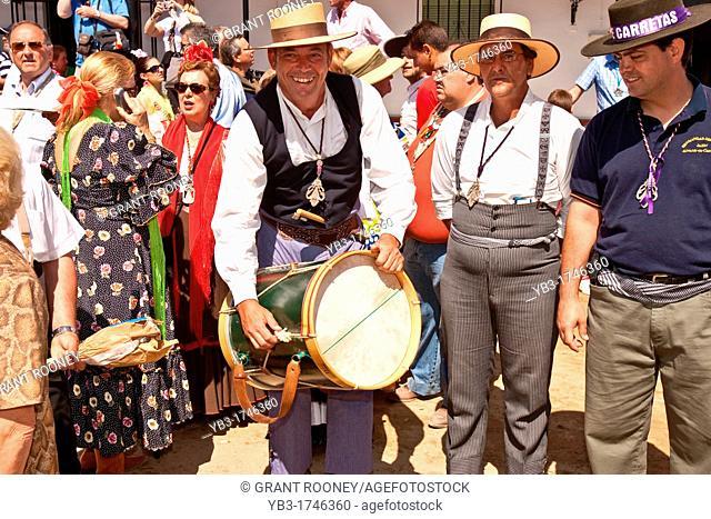 Pilgrims, El Rocio Festival, Huelva Province, Andalucia, Spain