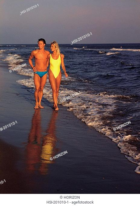 Lifestyle, Young couple in swimwear