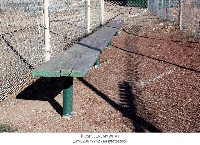 Empty Baseball benches