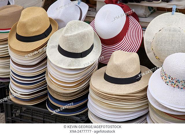 Hats for Sale on the Streets of Venice, Italy