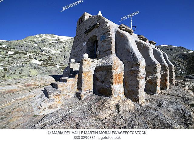 Zabala refuge on Penialara National Park. Madrid. Spain. Europe